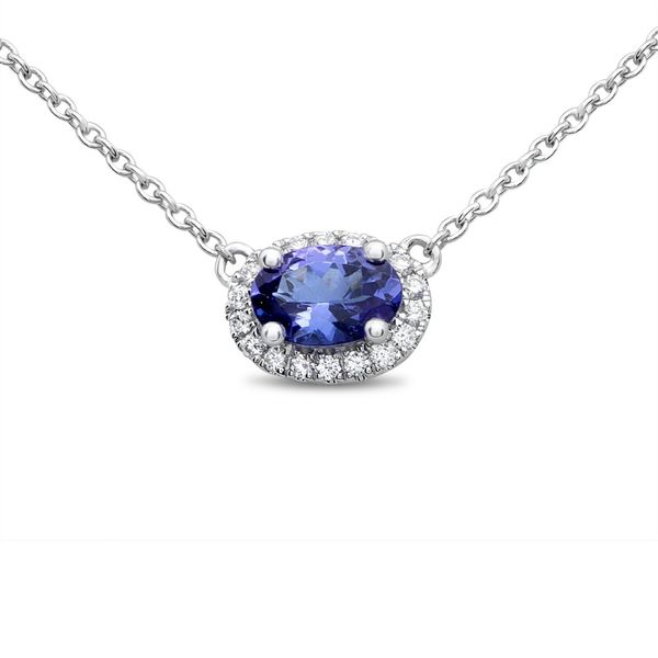 Oval Halo Tanzanite & Diamond Necklace Meigs Jewelry Tahlequah, OK