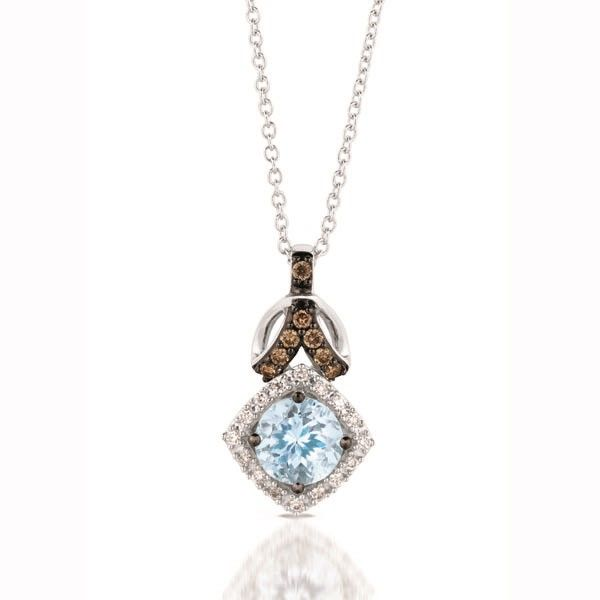 Le Vian Aqua & Diamond Necklace Meigs Jewelry Tahlequah, OK