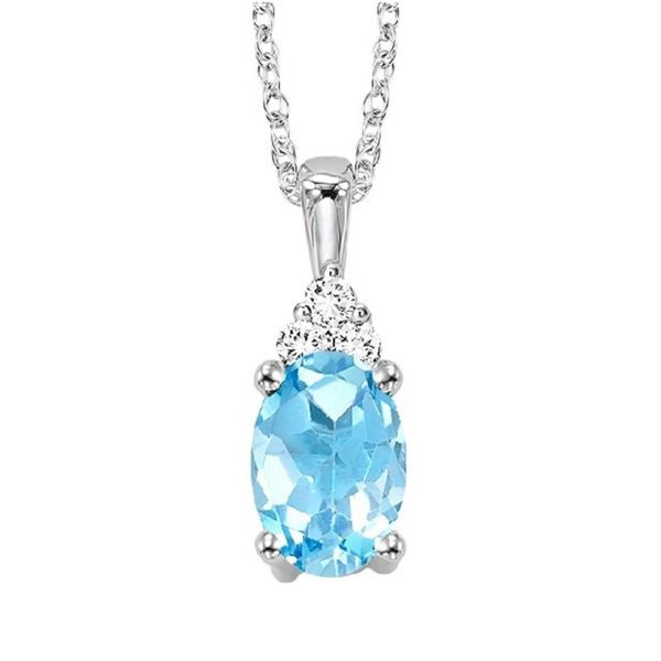 10KW .50CT Blue Topaz Necklace Meigs Jewelry Tahlequah, OK