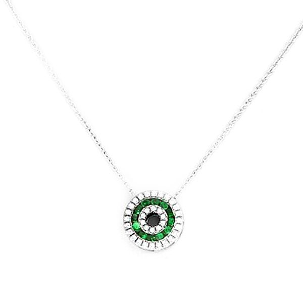 Tsavorite Garnet & Diamond Necklace Meigs Jewelry Tahlequah, OK