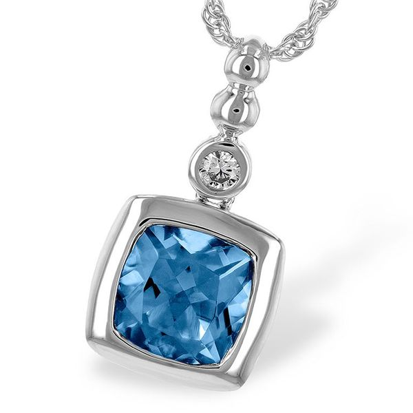 Blue Topaz & Diamond Necklace Meigs Jewelry Tahlequah, OK