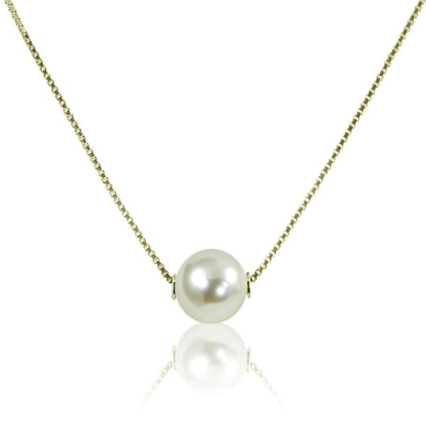 Solitaire Akoya Pearl Necklace Meigs Jewelry Tahlequah, OK