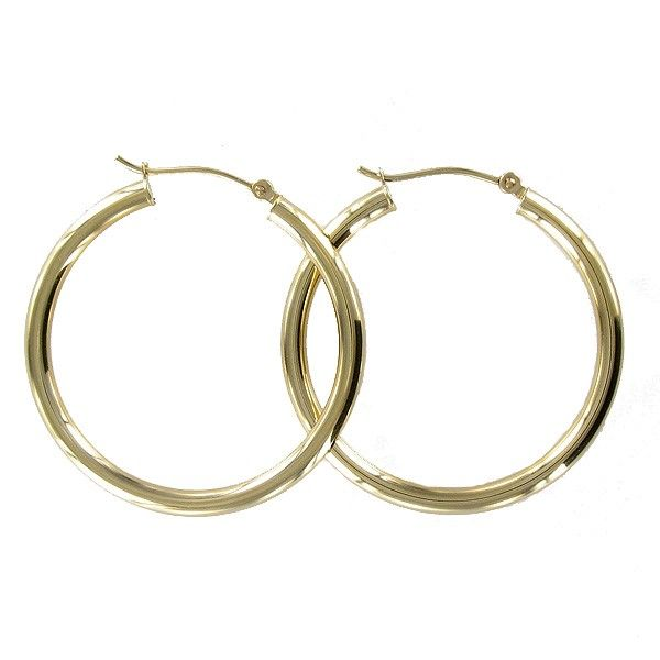 14KT Yellow Gold Polished Hoop Earrings Meigs Jewelry Tahlequah, OK