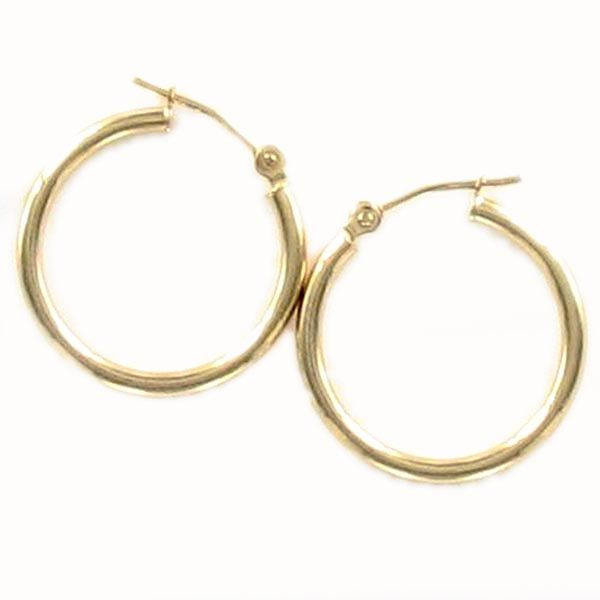 Yellow Gold Polished Hoop Earrings Meigs Jewelry Tahlequah, OK