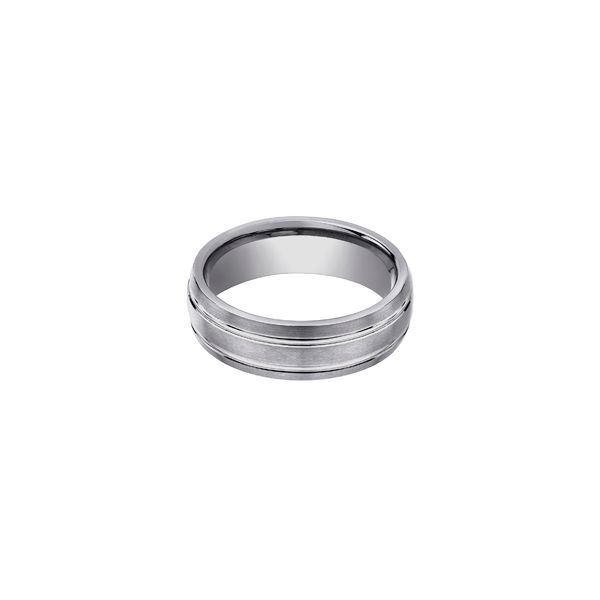 Tungsten Men's Design Polished Band Meigs Jewelry Tahlequah, OK