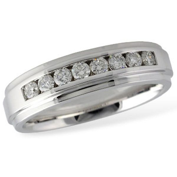 White Gold Mens Diamond Band Meigs Jewelry Tahlequah, OK