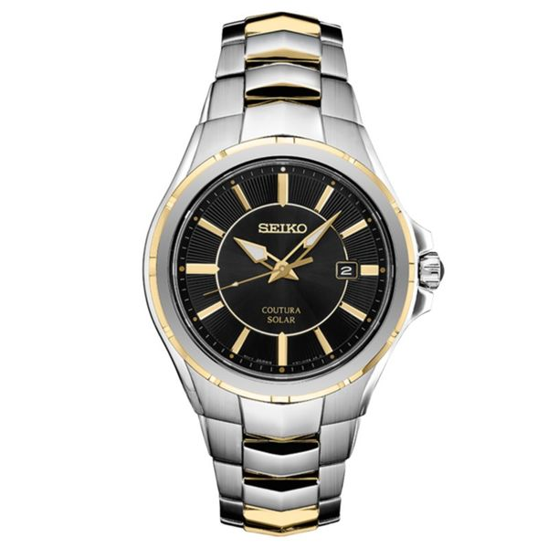 Mens Two Tone Coutura Solar Seiko Watch Meigs Jewelry Tahlequah, OK