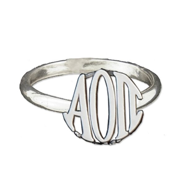 Sterling Silver Alpha Omicron Pi Ring Meigs Jewelry Tahlequah, OK