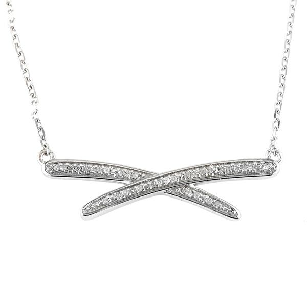 Sterling Silver Diamond X Necklace Meigs Jewelry Tahlequah, OK