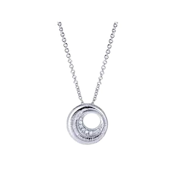 Sterling Silver .01CTW Circle Necklace Meigs Jewelry Tahlequah, OK