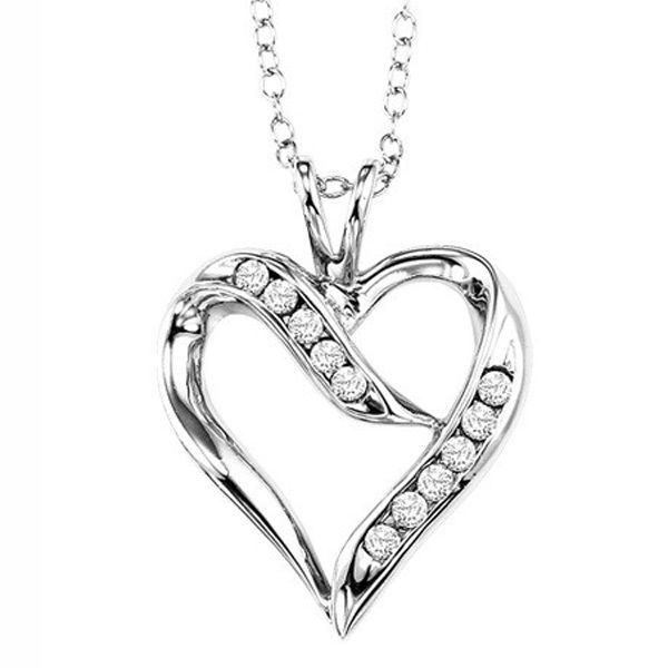 Sterling Silver Diamond Heart Necklace Meigs Jewelry Tahlequah, OK