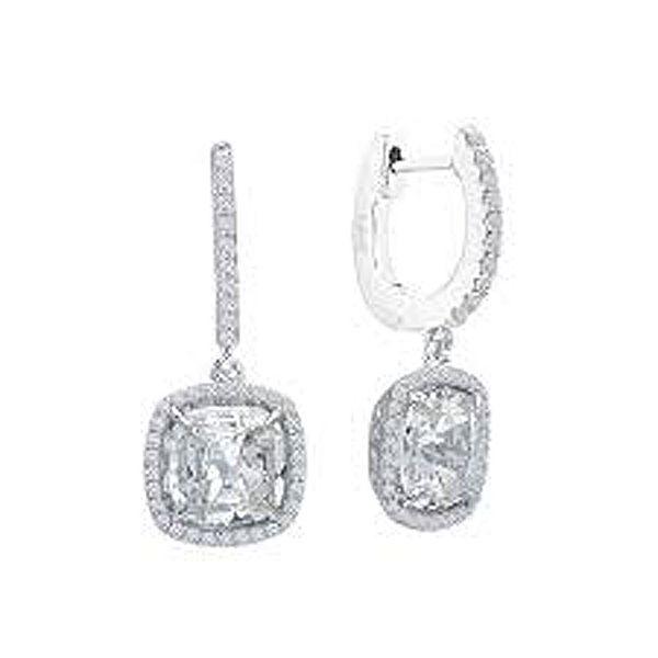 07729ce11 Lafonn Cushion Halo Dangle Earrings ~7C 705-30803 ~7C Meigs   Meigs ...