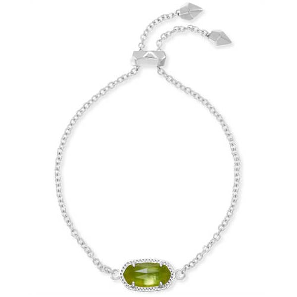 Kendra Scott Elaina Silver Adjustable Chain Bracelet In Berry Illusion Meigs Jewelry Tahlequah, OK