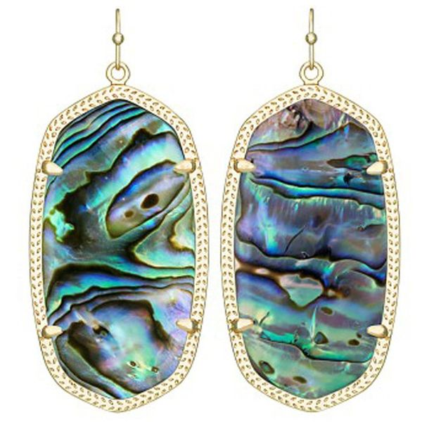Kendra Scott Danielle Gold Drop Earrings In Abalone Shell Meigs Jewelry Tahlequah, OK
