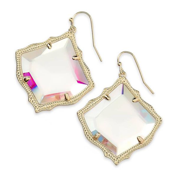 Kendra Scott Rose Kirsten Dichroic Glass Earrings Meigs Jewelry Tahlequah, OK