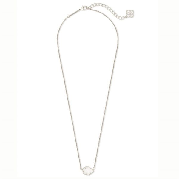 Kendra Scott Rhodium White MOP Tess Necklace Image 2 Meigs Jewelry Tahlequah, OK