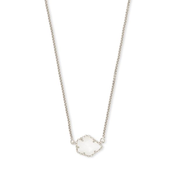 Kendra Scott Rhodium White MOP Tess Necklace Meigs Jewelry Tahlequah, OK