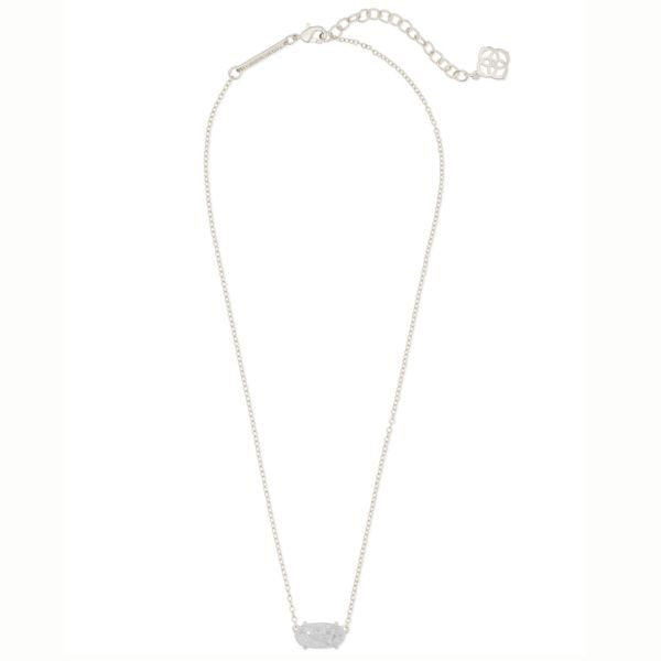 Kendra Scott Rhodium Iridescent Drusy Ever Necklace Image 2 Meigs Jewelry Tahlequah, OK