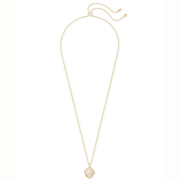 Kendra Scott Kacey Gold Long Pendant Necklace In White Pearl Image 2 Meigs Jewelry Tahlequah, OK