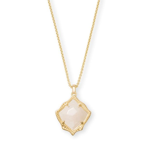 Kendra Scott Kacey Gold Long Pendant Necklace In White Pearl Meigs Jewelry Tahlequah, OK