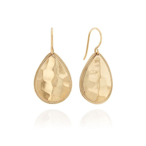 Medium Hammered Tear Drop Earrings Meigs Jewelry Tahlequah, OK