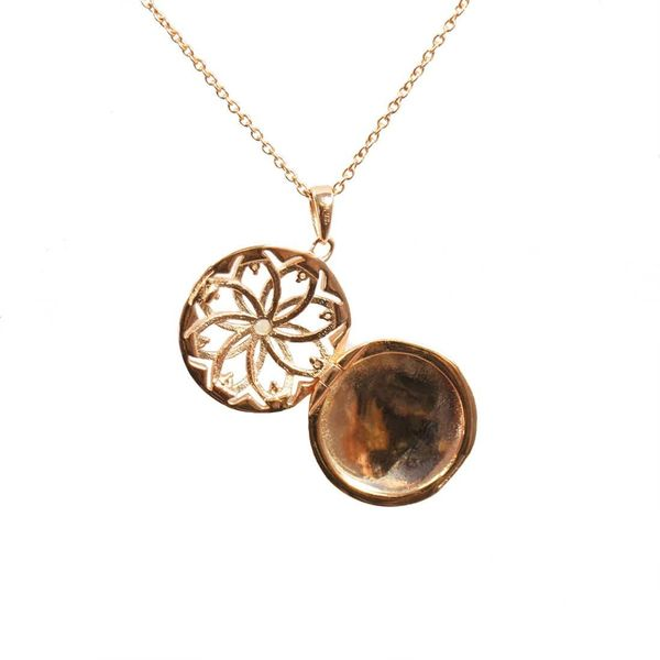 Rose Gold Plated Helen Locket Necklace Image 2 Meigs Jewelry Tahlequah, OK