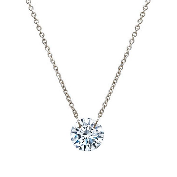 Lafonn Round Simulated Diamond Solitaire Necklace Meigs Jewelry Tahlequah, OK