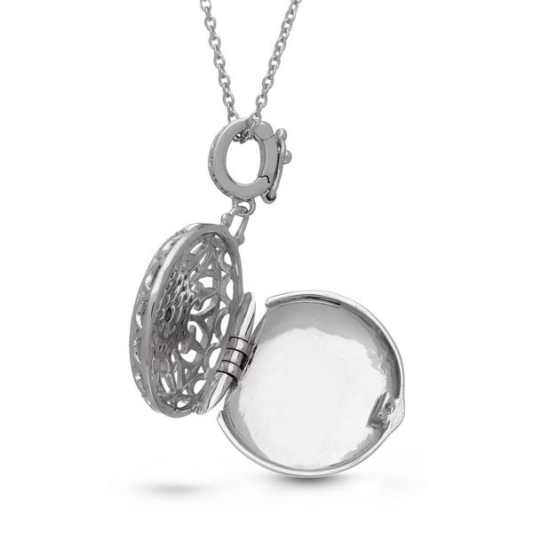 Sterling Silver Beatrice Locket Necklace Image 2 Meigs Jewelry Tahlequah, OK