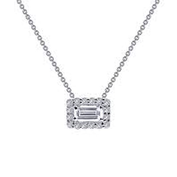 Lafonn Simulated Diamond Bagguette Halo Necklace Meigs Jewelry Tahlequah, OK