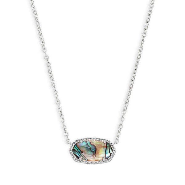 Kendra Scott Elisa Silver Pendant Necklace In Abalone Shell Meigs Jewelry Tahlequah, OK