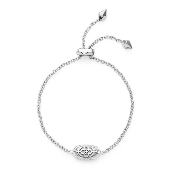 Kendra Scott Elaina Silver Adjustable Chain Bracelet In Silver Filigree Mix Meigs Jewelry Tahlequah, OK