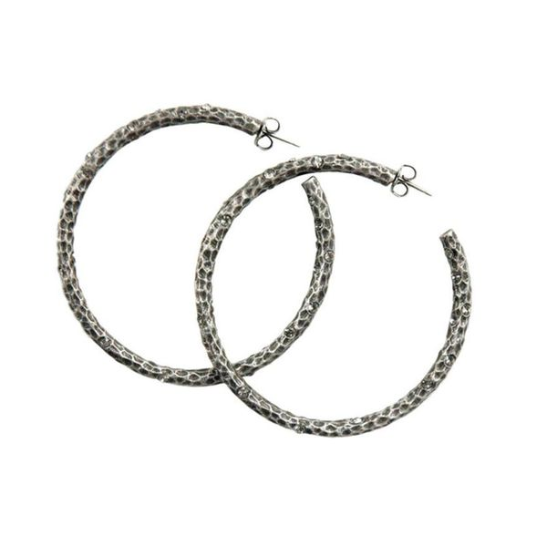TAT2 Silver Hoop Earrings Meigs Jewelry Tahlequah, OK