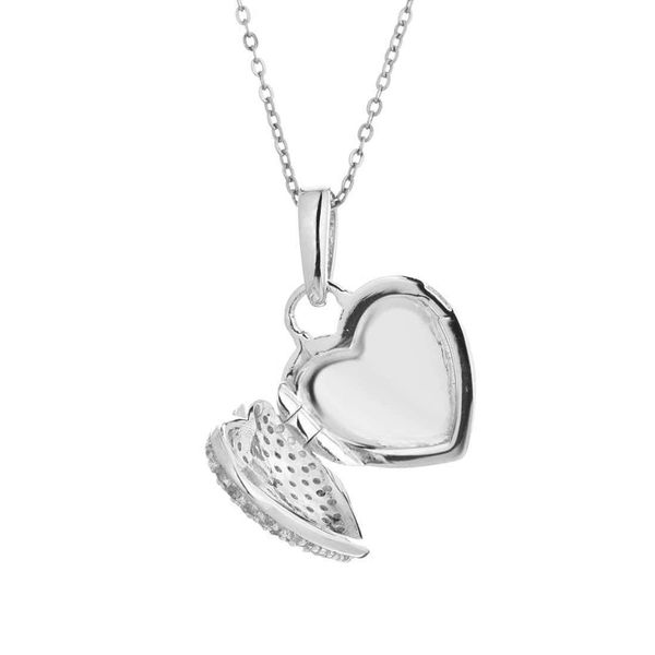 Sterling Silver Heart Locket Necklace Image 2 Meigs Jewelry Tahlequah, OK