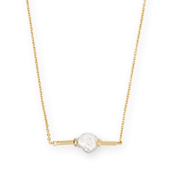 Kendra Scott Emberly Gold Pendant Necklace In Pearl Meigs Jewelry Tahlequah, OK