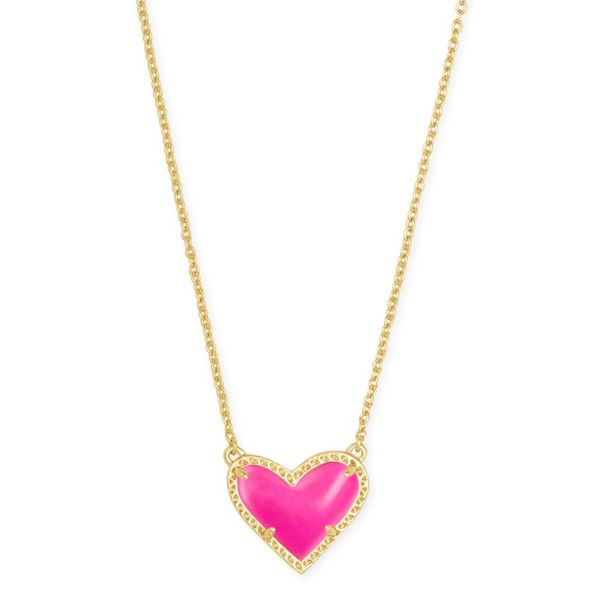 Kendra Scott Art Pink Heart Necklace Meigs Jewelry Tahlequah, OK