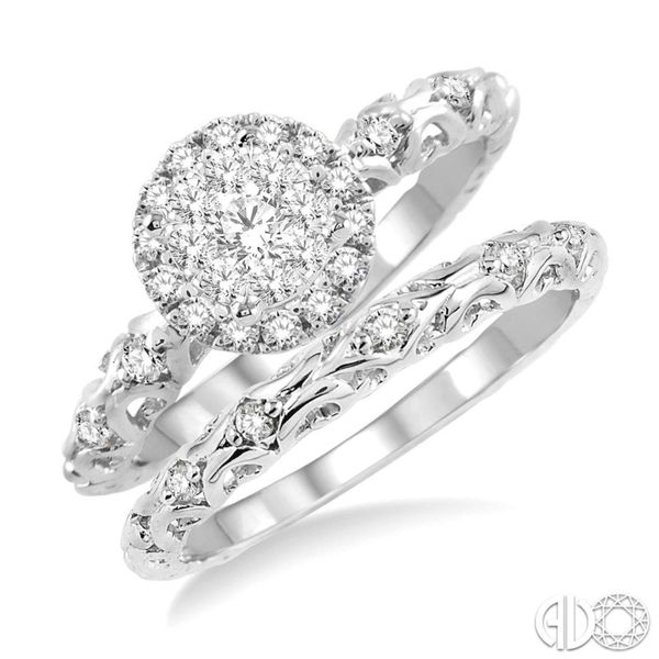 Northern Lights Wedding Set Miner's North Jewelers Traverse City, MI
