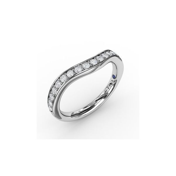 Channel Set Contour Diamond Band Miner's North Jewelers Traverse City, MI