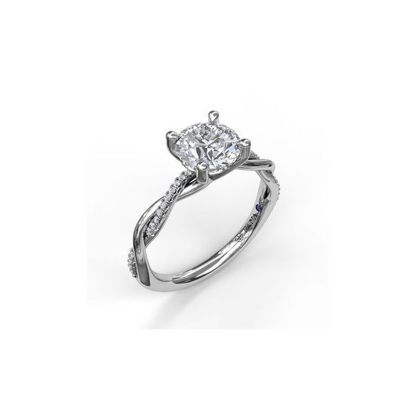 Diamond Twist Band Engagement Ring Miner's North Jewelers Traverse City, MI