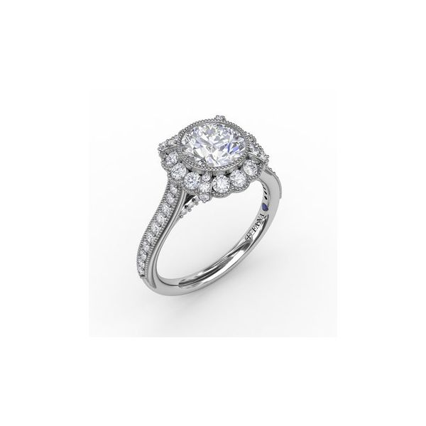 Vintage Halo Engagement Ring Miner's North Jewelers Traverse City, MI