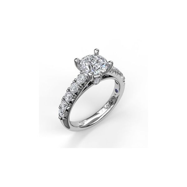 Diamond Band Engagement Ring Miner's North Jewelers Traverse City, MI