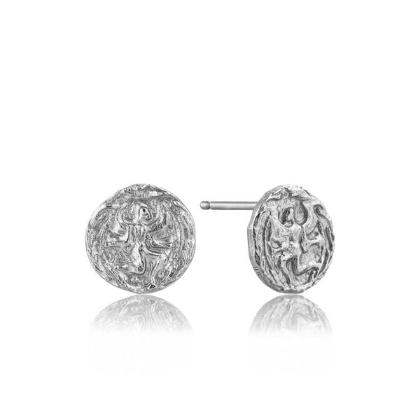 Silver Boreas Stud Earrings Miner's North Jewelers Traverse City, MI