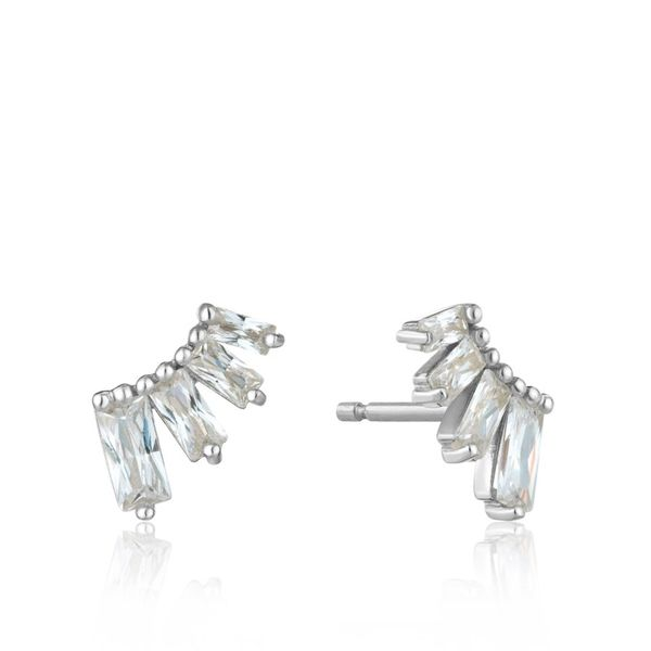 Silver Glow Bar Stud Earrings Miner's North Jewelers Traverse City, MI