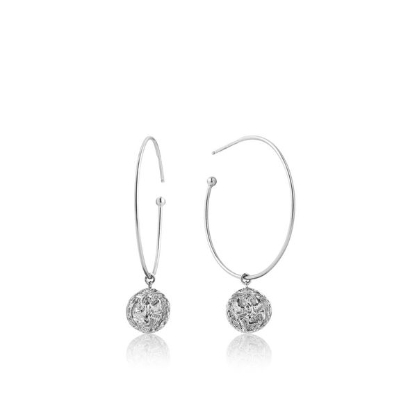 Silver Boreas Hoop Earrings Miner's North Jewelers Traverse City, MI