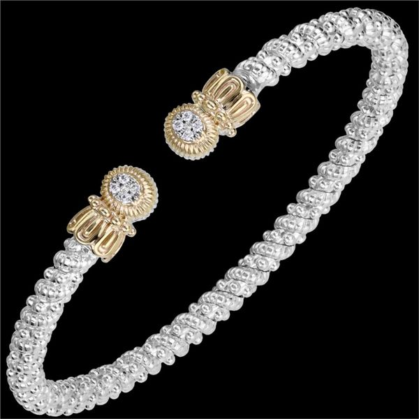 Diamond Bracelet in Yellow gold and Sterling Silver Mitchell's Jewelry Norman, OK
