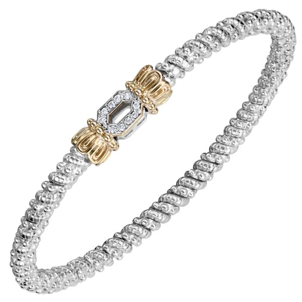 Vahan 14-karat yellow gold and sterling silver bracelet Mitchell's Jewelry Norman, OK