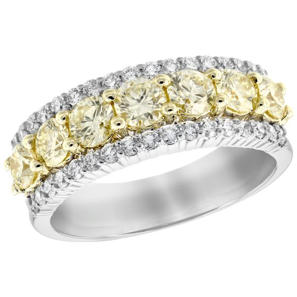 Yellow and white diamond ring Mitchell's Jewelry Norman, OK