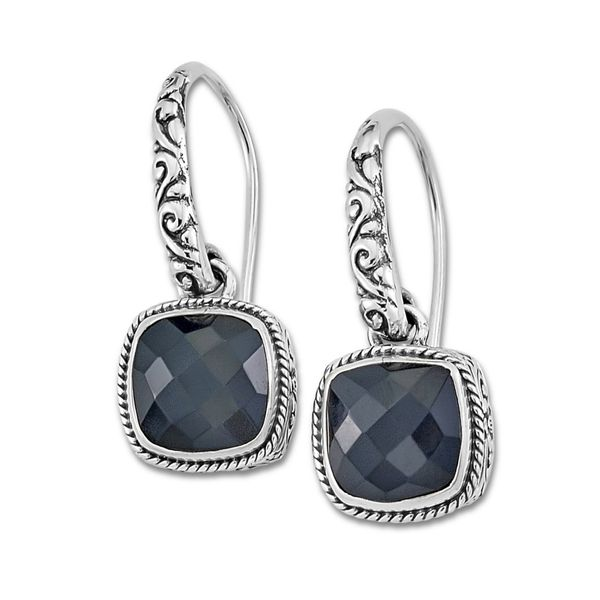 Black Onyx Square Earrings Mitchell's Jewelry Norman, OK