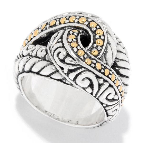 Samuel B. Sterling Silver and 18-Karat Yellow Gold Ring, size 9 Mitchell's Jewelry Norman, OK