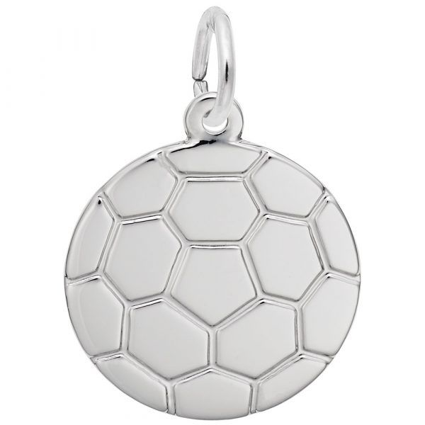 Flat Soccer Ball Charm Mitchell's Jewelry Norman, OK