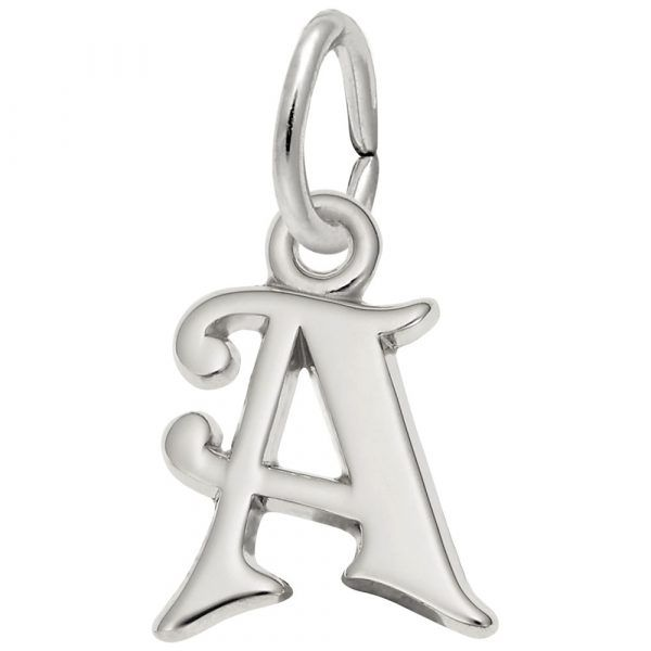 Curly Initial a Accent Charm Mitchell's Jewelry Norman, OK
